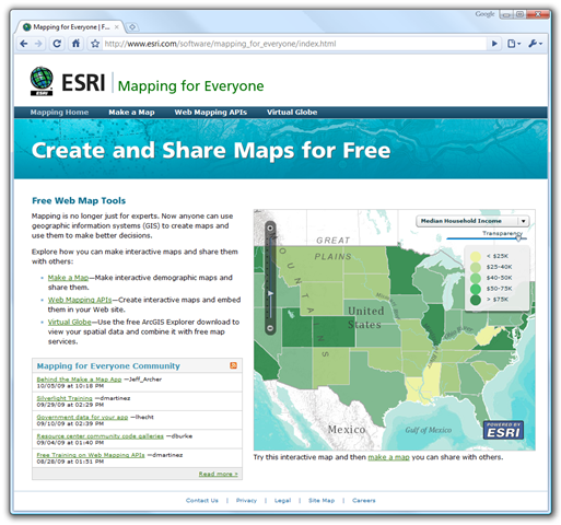 free esri demographic mapping
